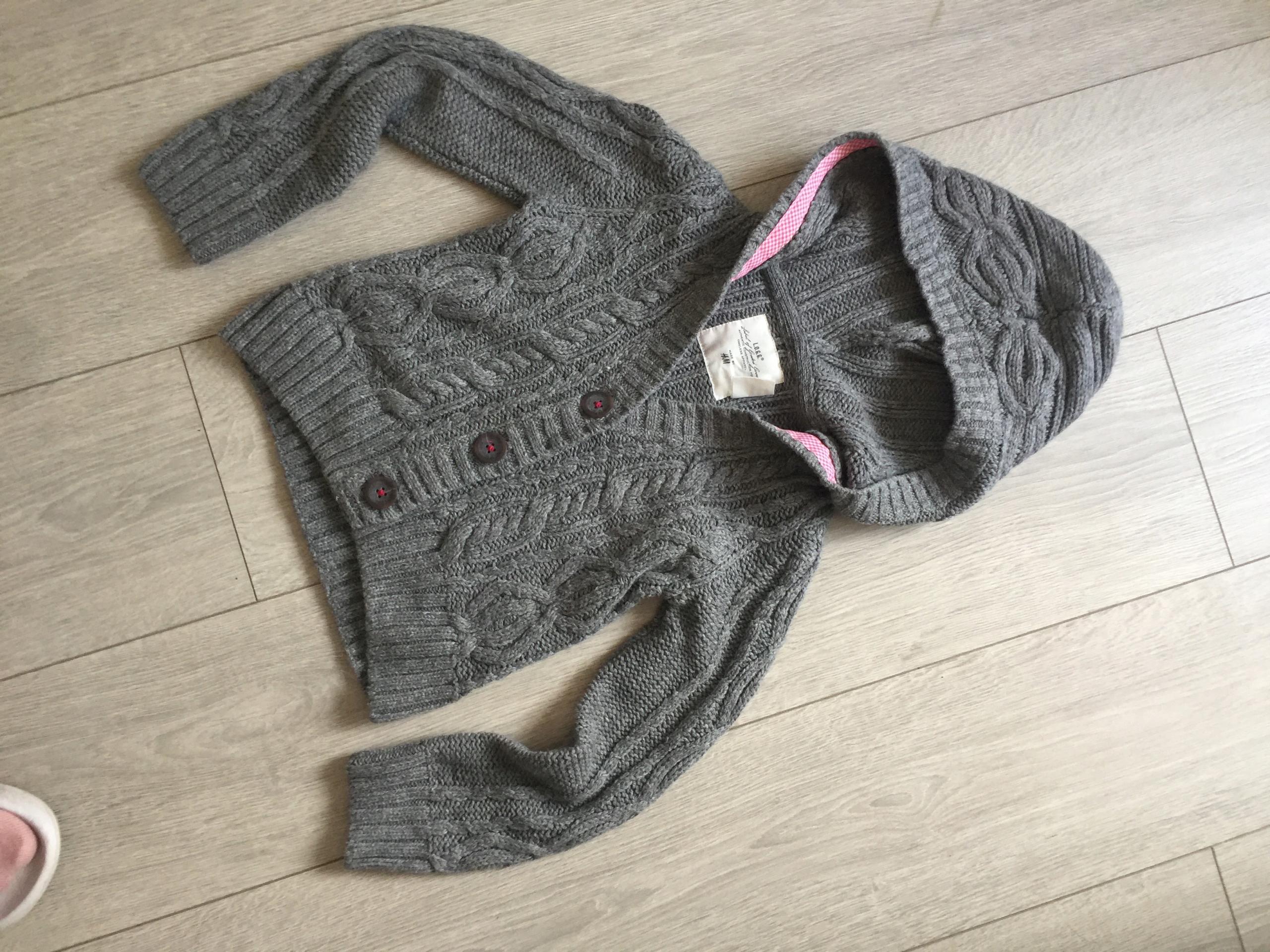 ciepły sweter bluza 110 116 4-6l BDB