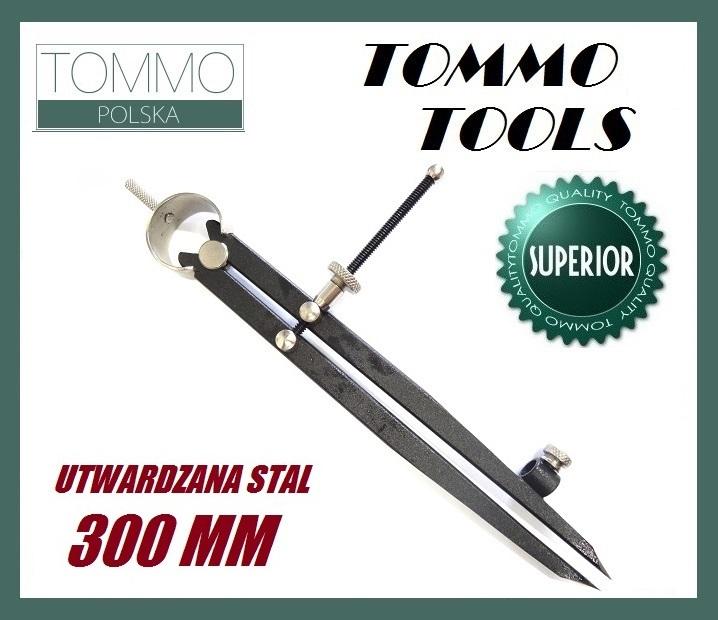 Cyrkiel Traserski Prosty 30cm Utwardzana Stal 2w1