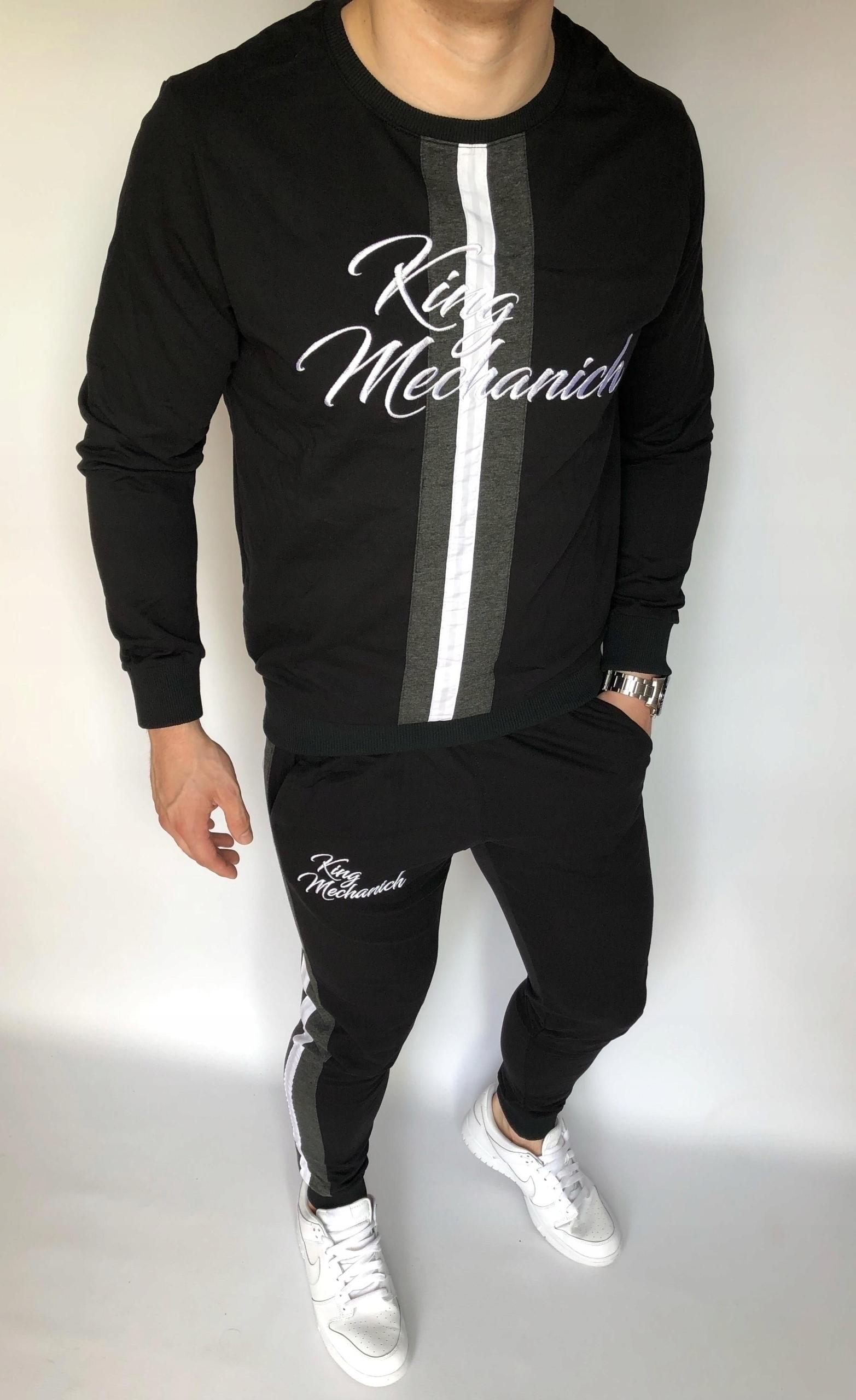 Czarny męski komplet dresowy King - M