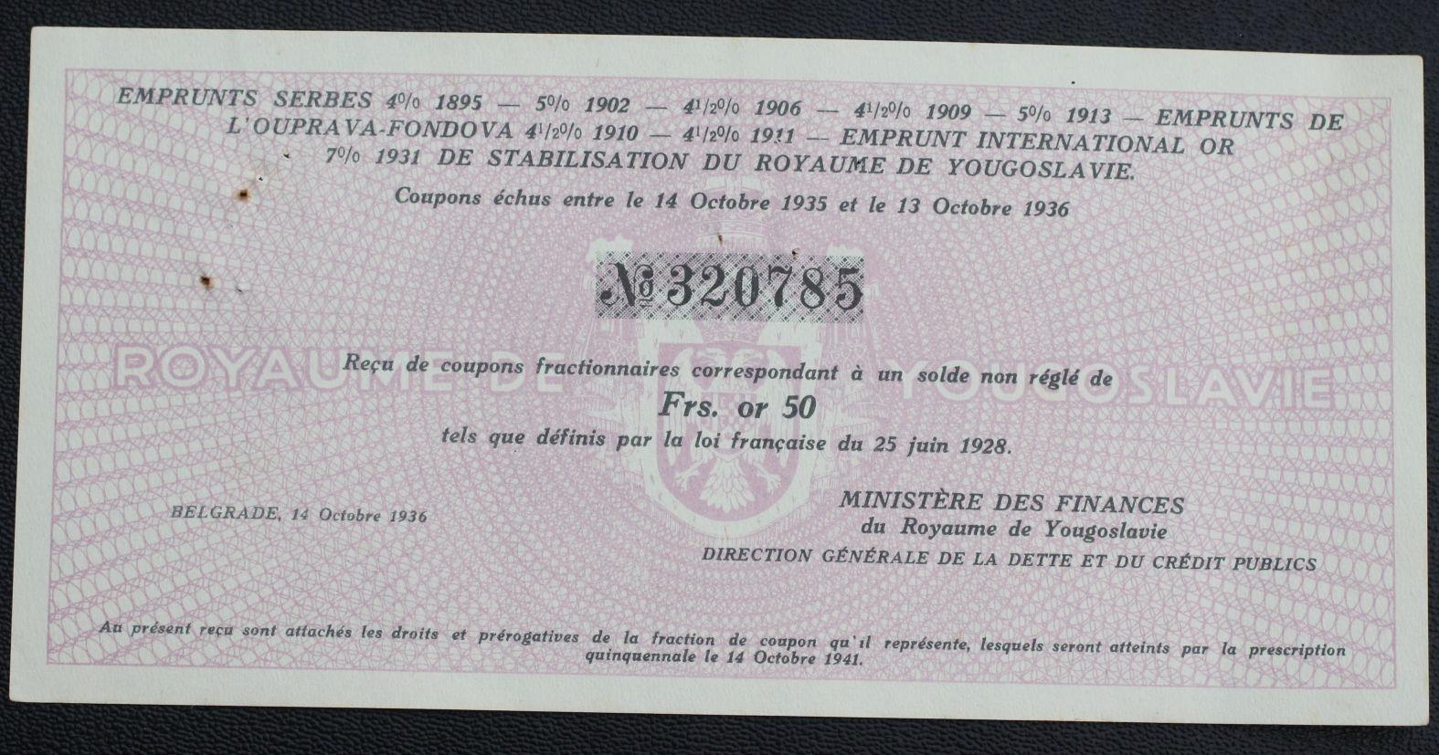 #Papiery wartościowe. Belgrade 1936 ...od 3,99