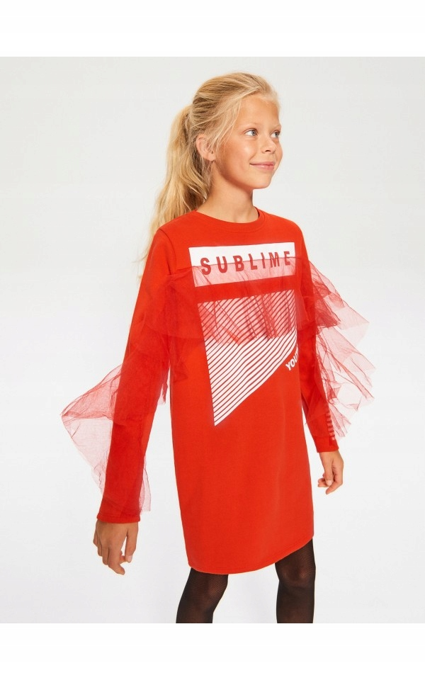 Piękna sukienka _ RESERVED _ TIUL _ 134 cm