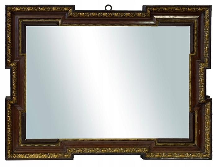 Ok 1880 r. Lustro w ozdobnej ramie 64x48 cm