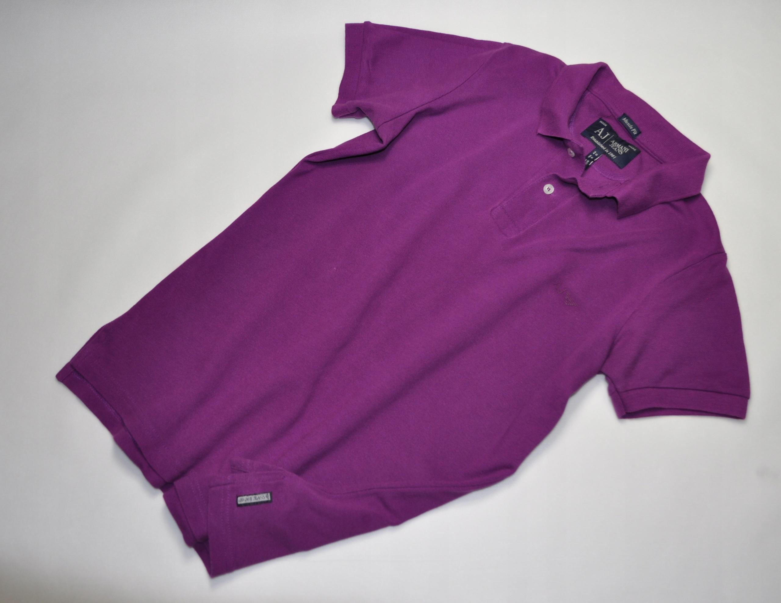ATT męska koszulka polo Armani Jeans filetowa S