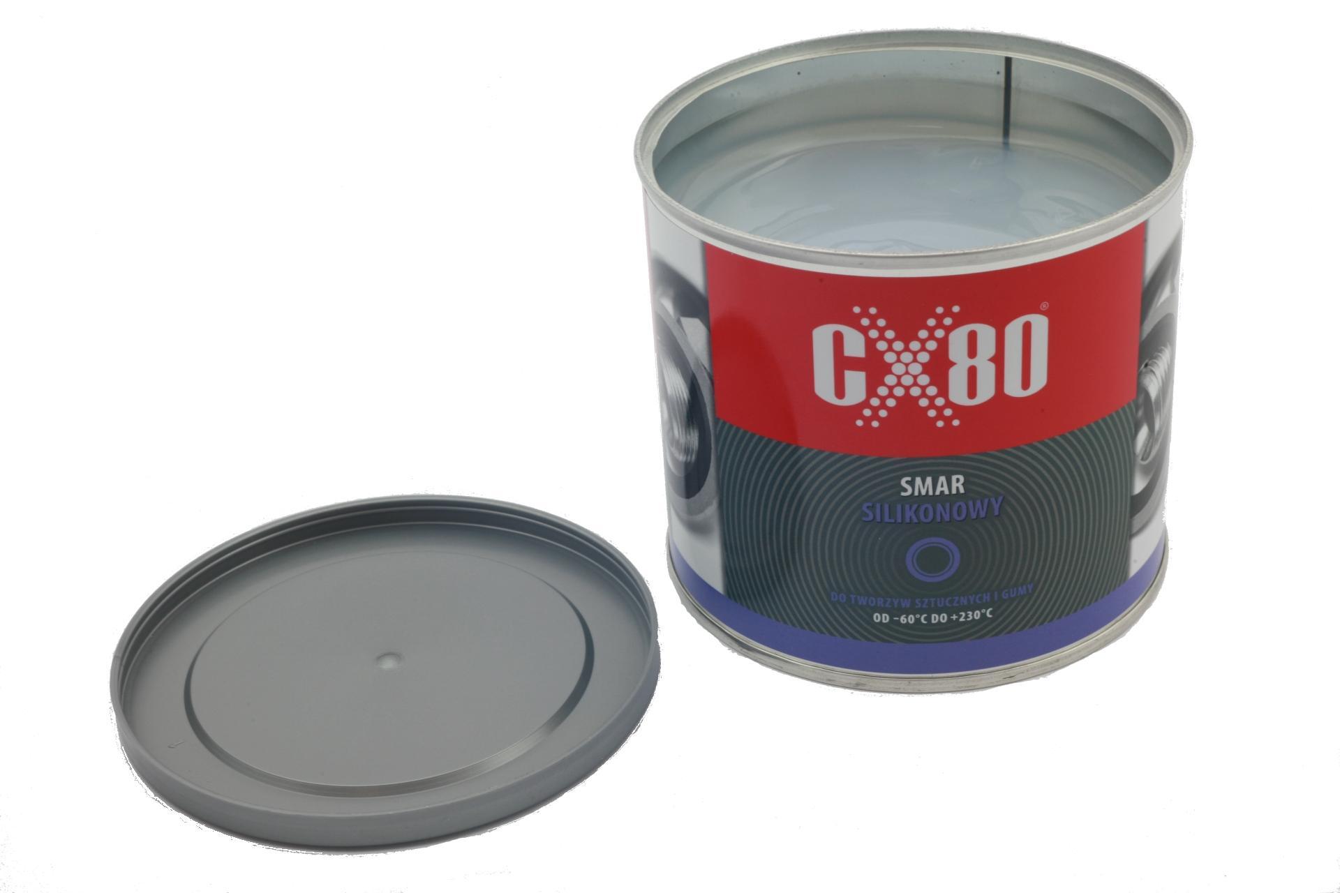 CX80 Smar Silikonowy Bezbarwny 500 g ATEST