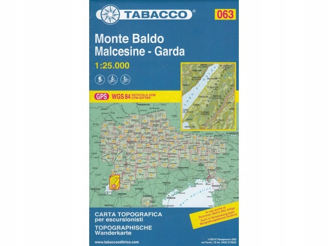 063 Monte Baldo mapa turystyczna 1:25 000 Tabacco