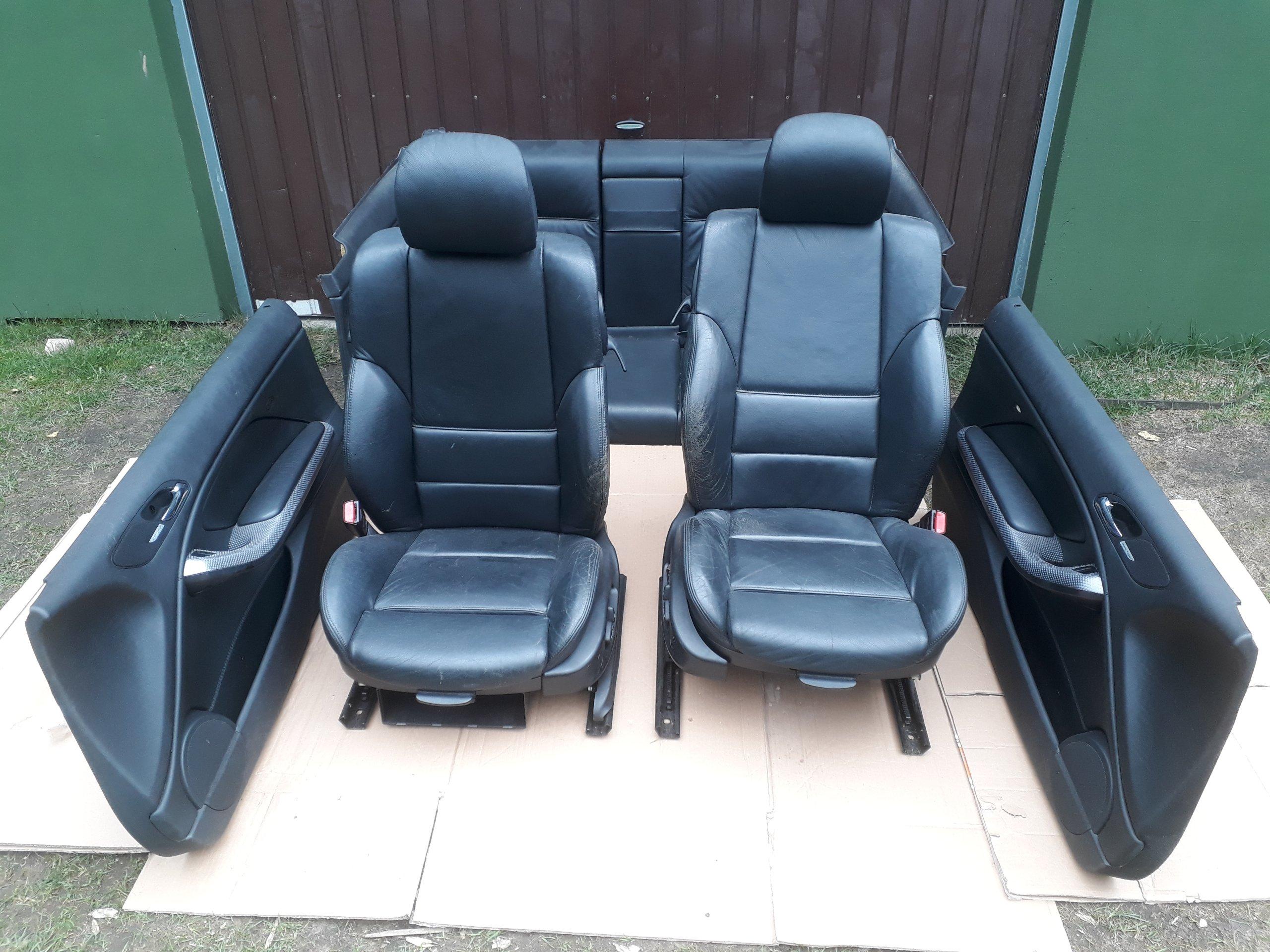Bmw E46 Coupe Fotele Skóra M Pakiet Boczki Sport