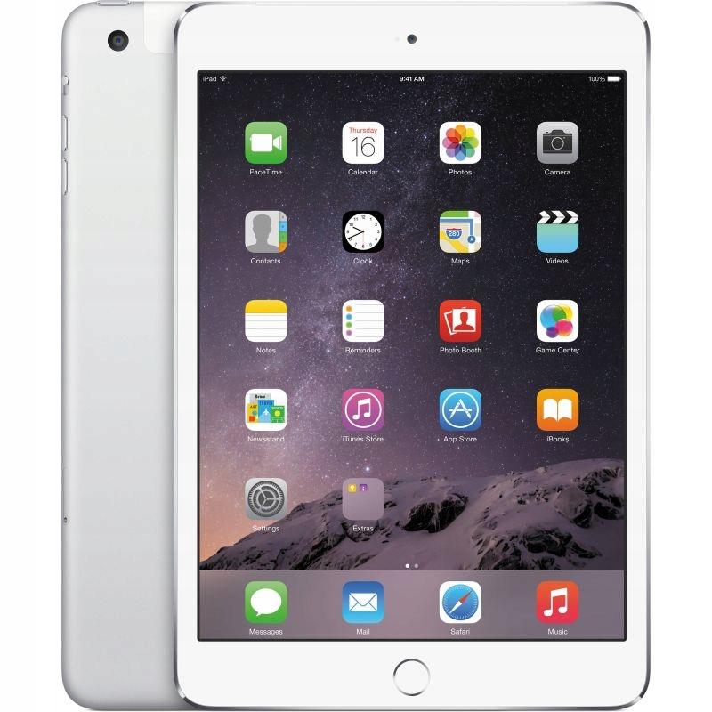 iPad Mini 3 128gb Wi-Fi SILVER KMKI KRAKÓW 1449ZŁ#