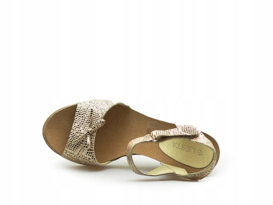 Sandały Lesta 181 1202 1 4180 Złoty nubuk