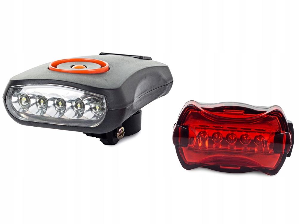 Oświetlenie Rowerowe Komplet Led Przód Tył Lampki