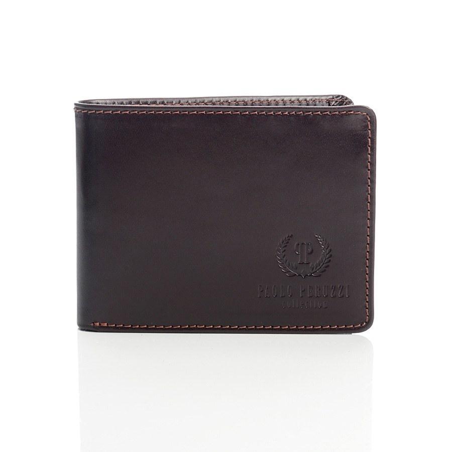 d9f914238a8bd Ekskluzywny portfel męski Paolo Peruzzi 010pp brąz - 7347208629 ...