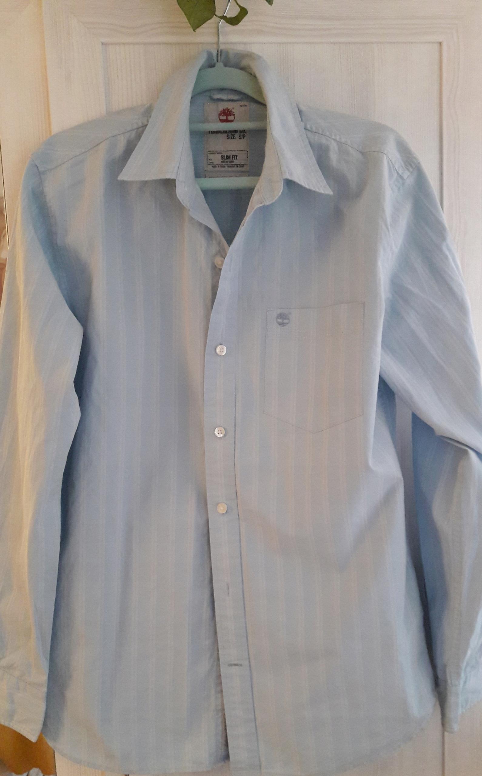 Błękitna koszula TIMBERLAND slim fit 100% bawełna