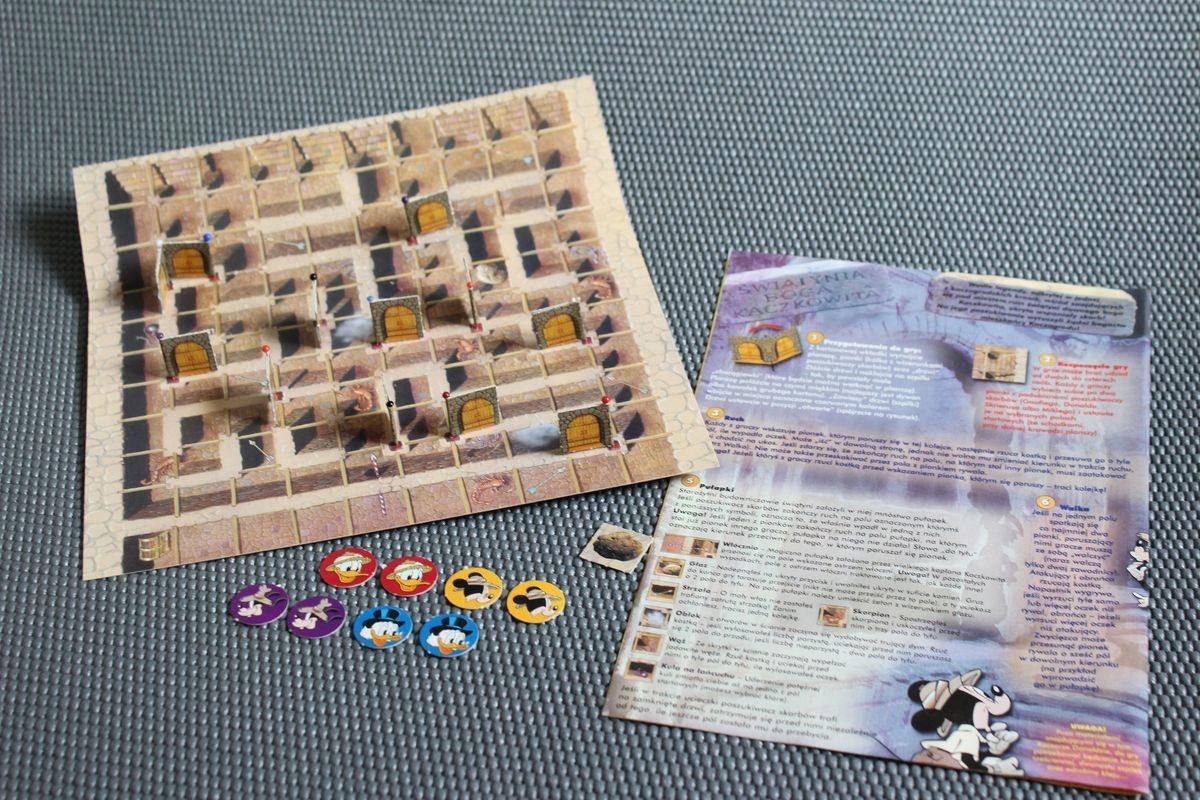 Kaczor Donald 2000 gra planszowa Świątynia Kaczkow