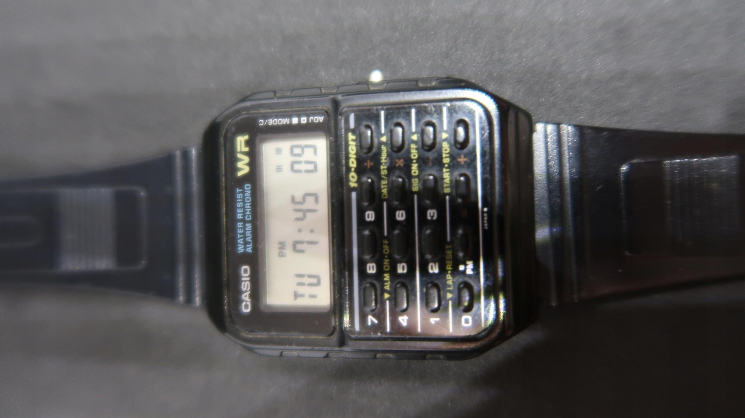 zegarek casio kalkulator