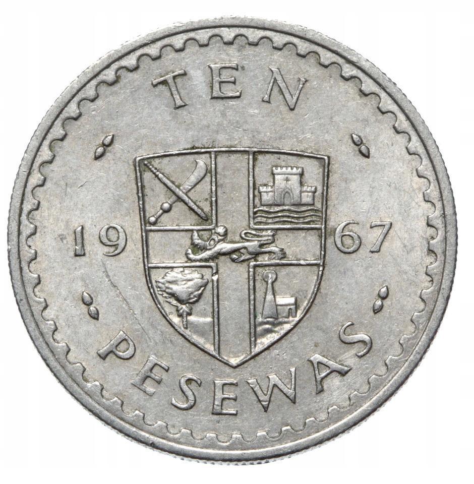 Ghana - moneta - 10 Pesewas 1967