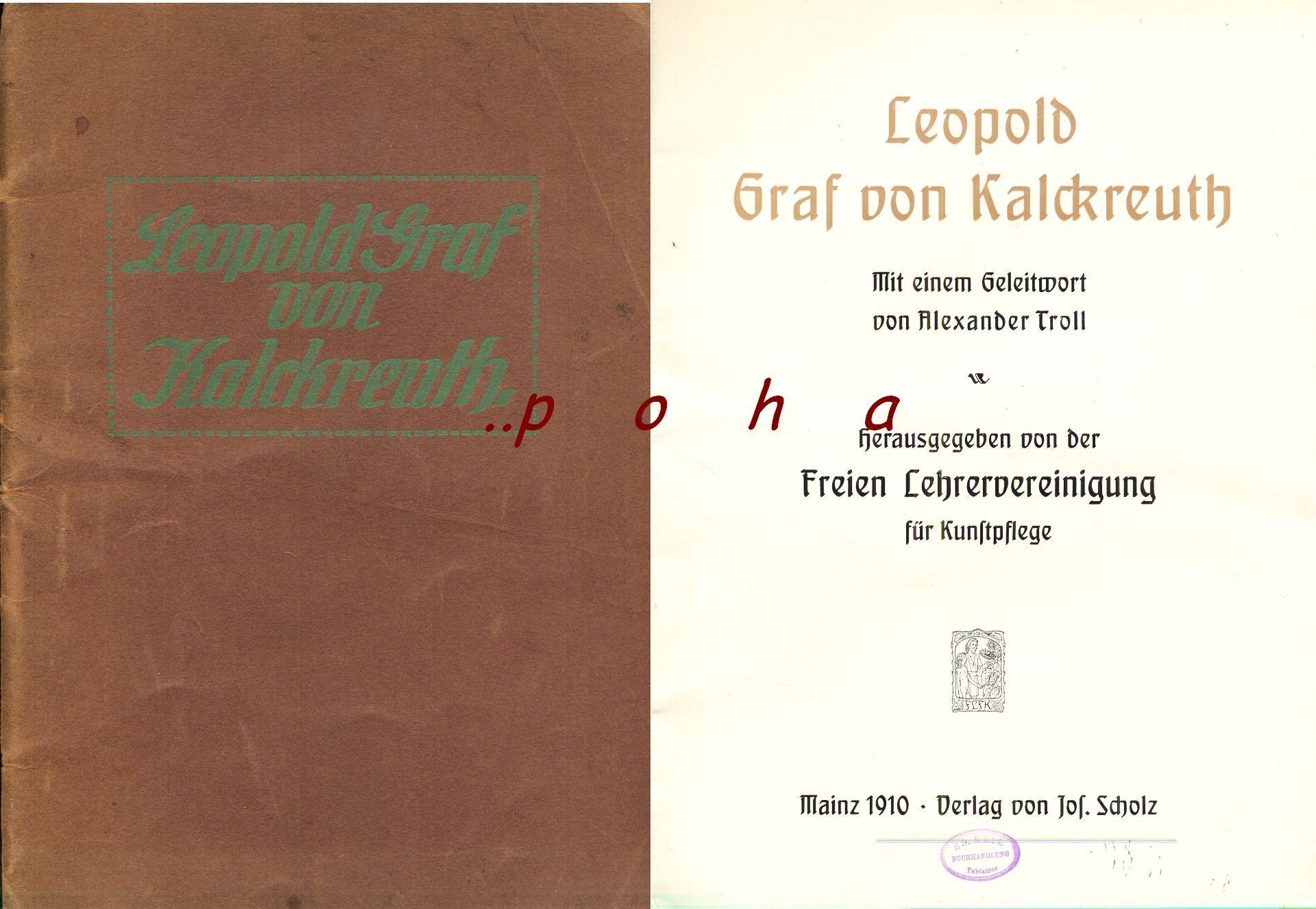 Leopold Graf von Kalckreuth 1910 malarz