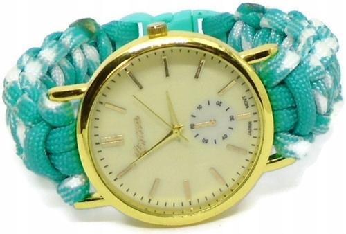zegarek z paskiem paracord damski