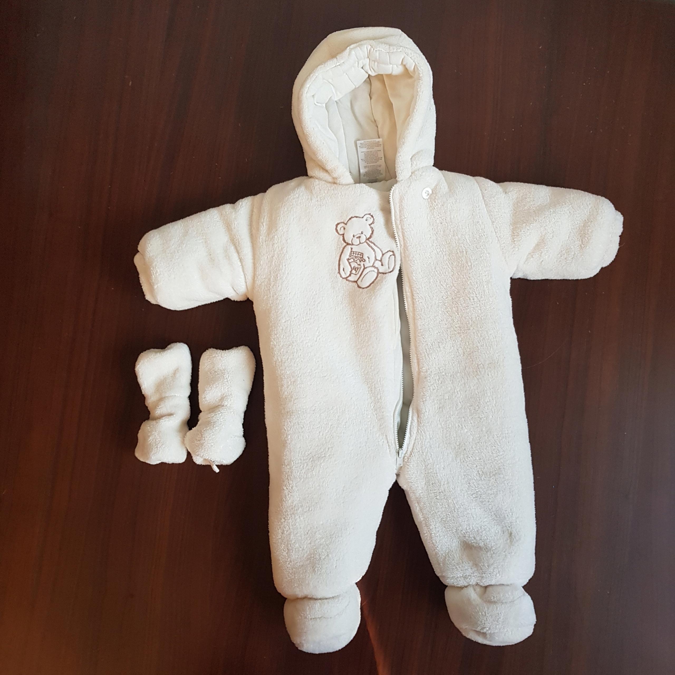 Kombinezon dziecięcy ABSORBA 6-9 m + rękawiczki