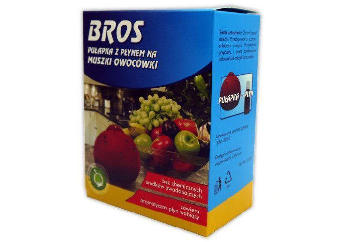 PUŁAPKA NA MUSZKI muchy owocowki + PŁYN BROS 30ml