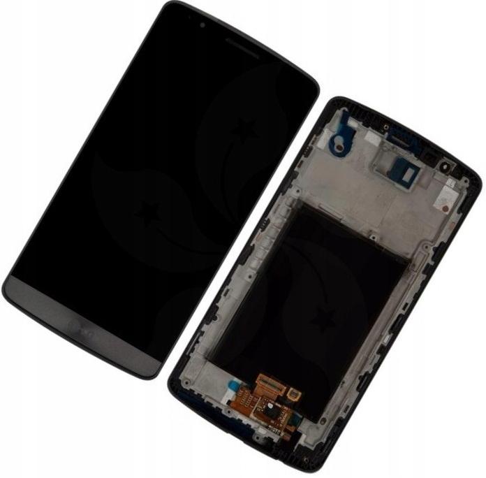 WYŚWIETLACZ LCD +DOTYK LG G3 D850 D855 SZARY RAMKA