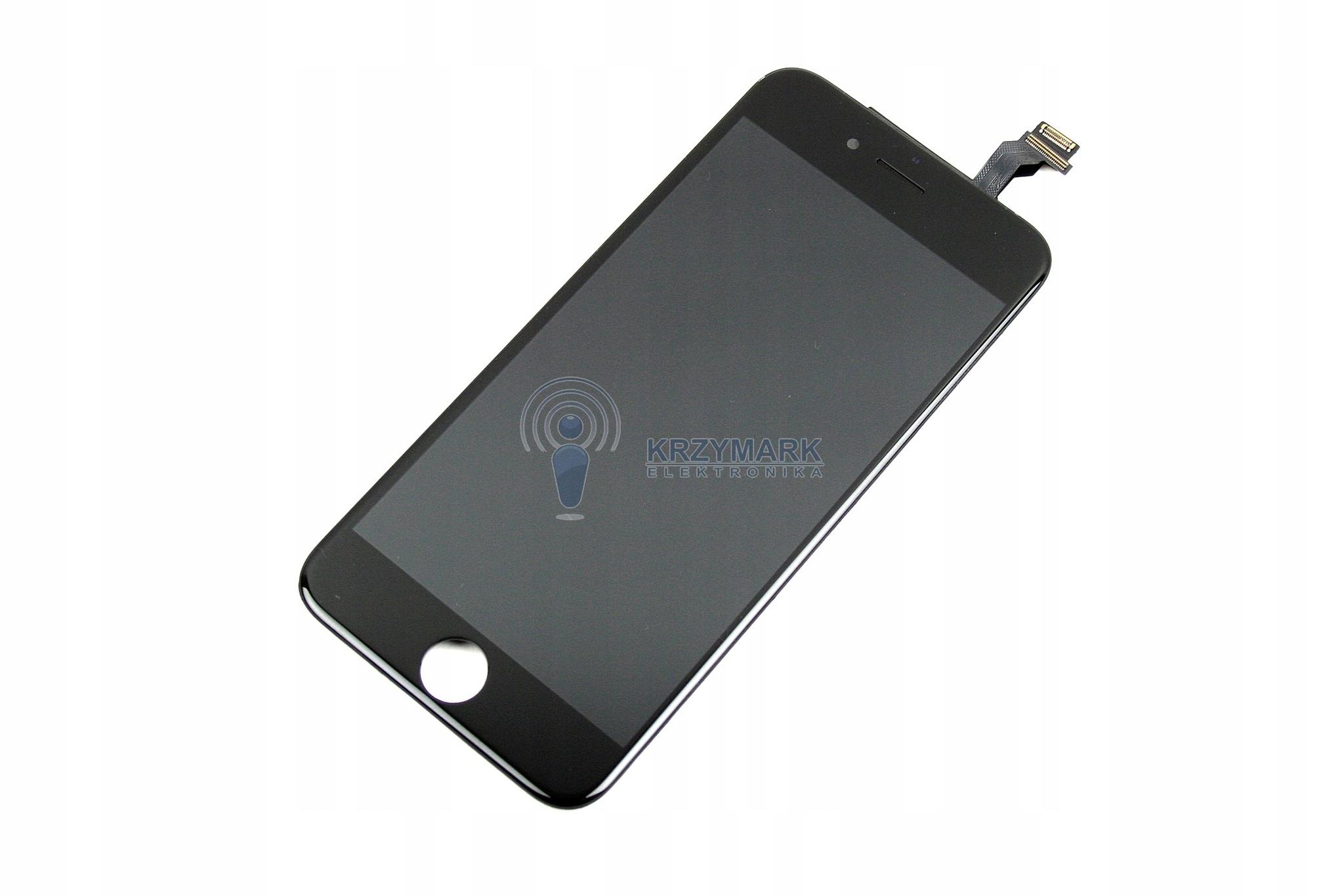 IPHONE LCD 6 CZARNY WYŚWIETLACZ DOTYK DIGITIZER