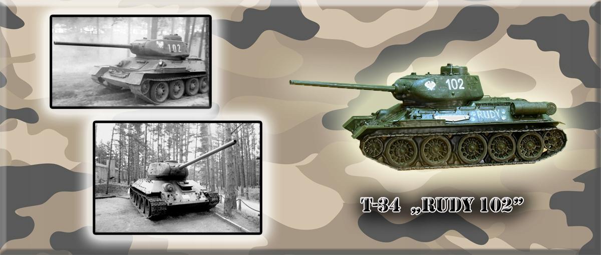 """Kubek z czołgiem T-34 """"Rudy"""". Super jako"""