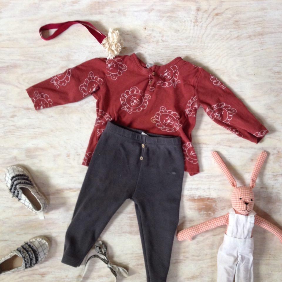 Spodnie i ceglana koszula w lwy ZARA 80