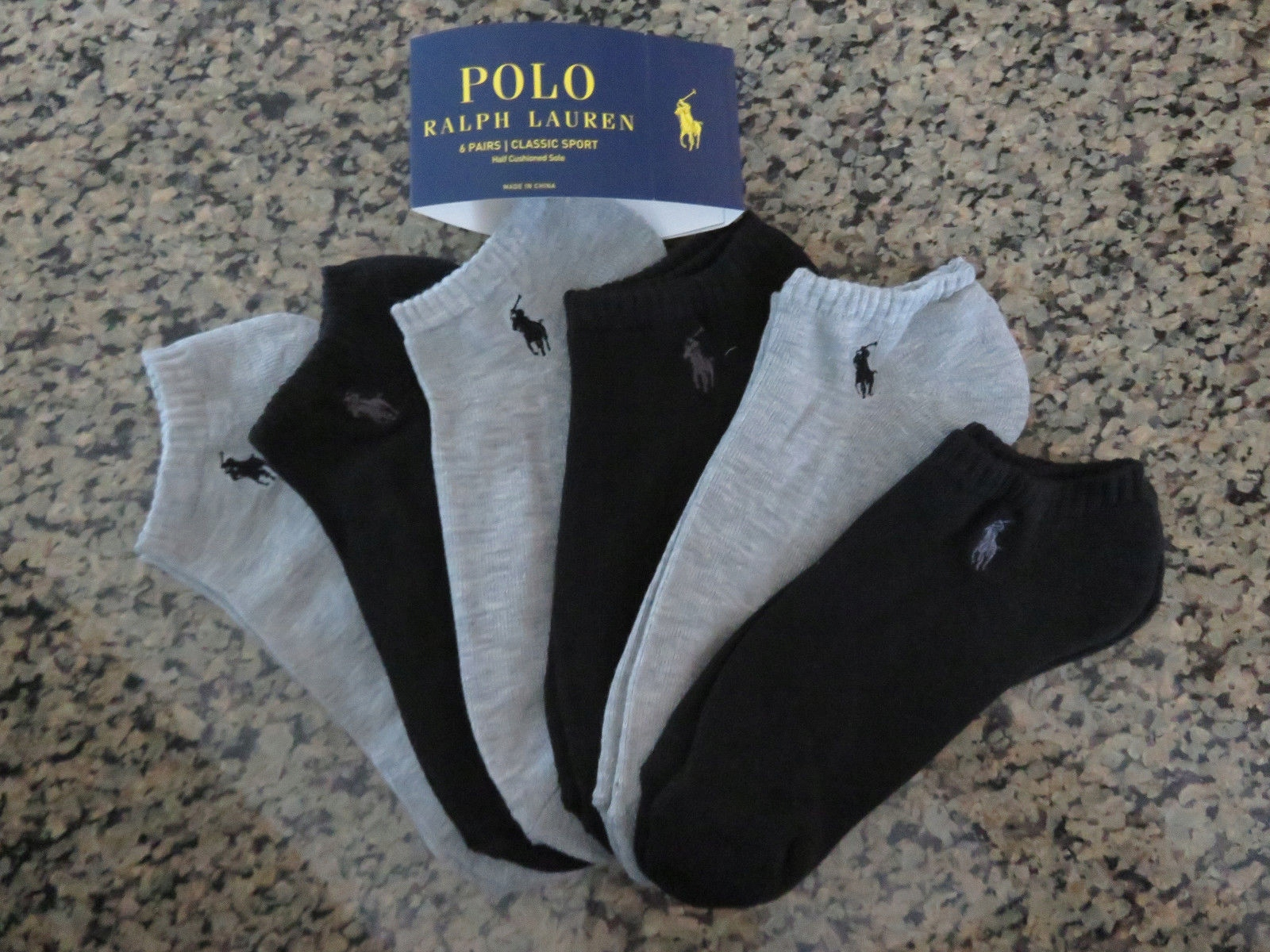 Skarpetki Stopki POLO RALPH LAUREN 6 sztuk z USA