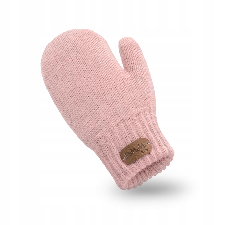 Rękawiczki dziewczęce PaMaMi - Pudrowy róż