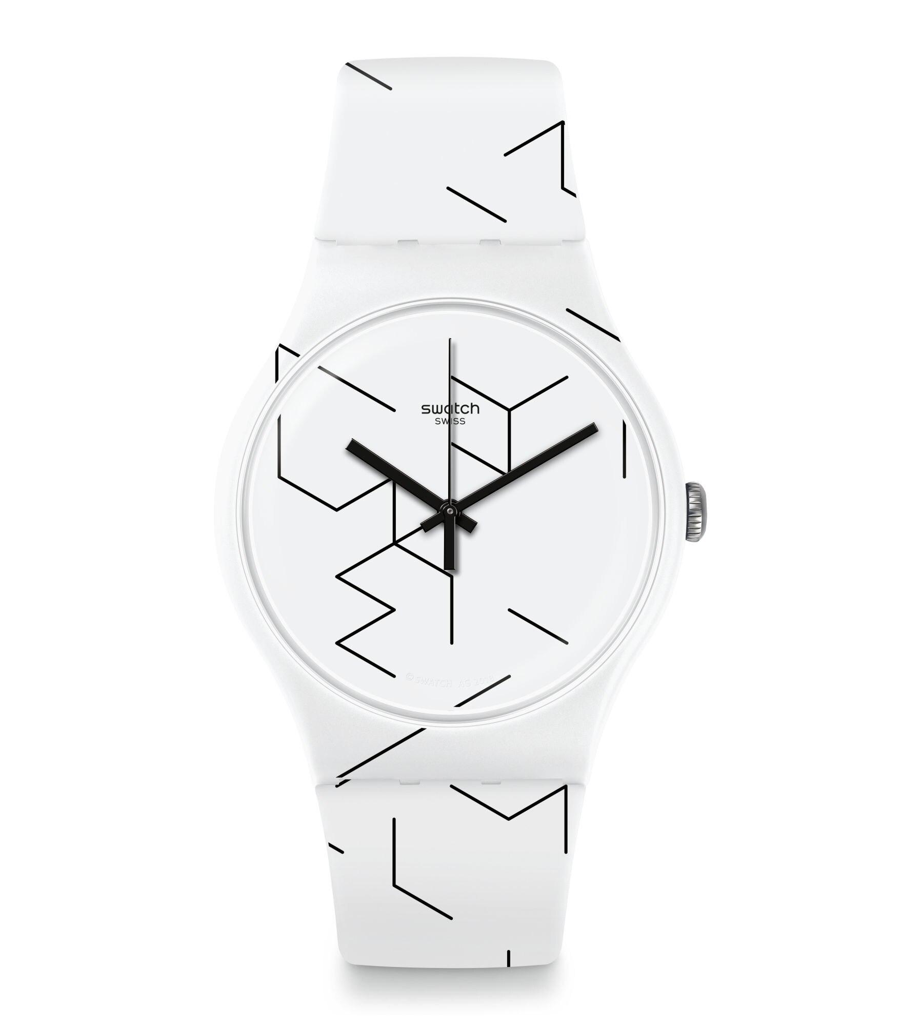 Zegarek biały Swatch damski/męski UNIKATOWY wzór