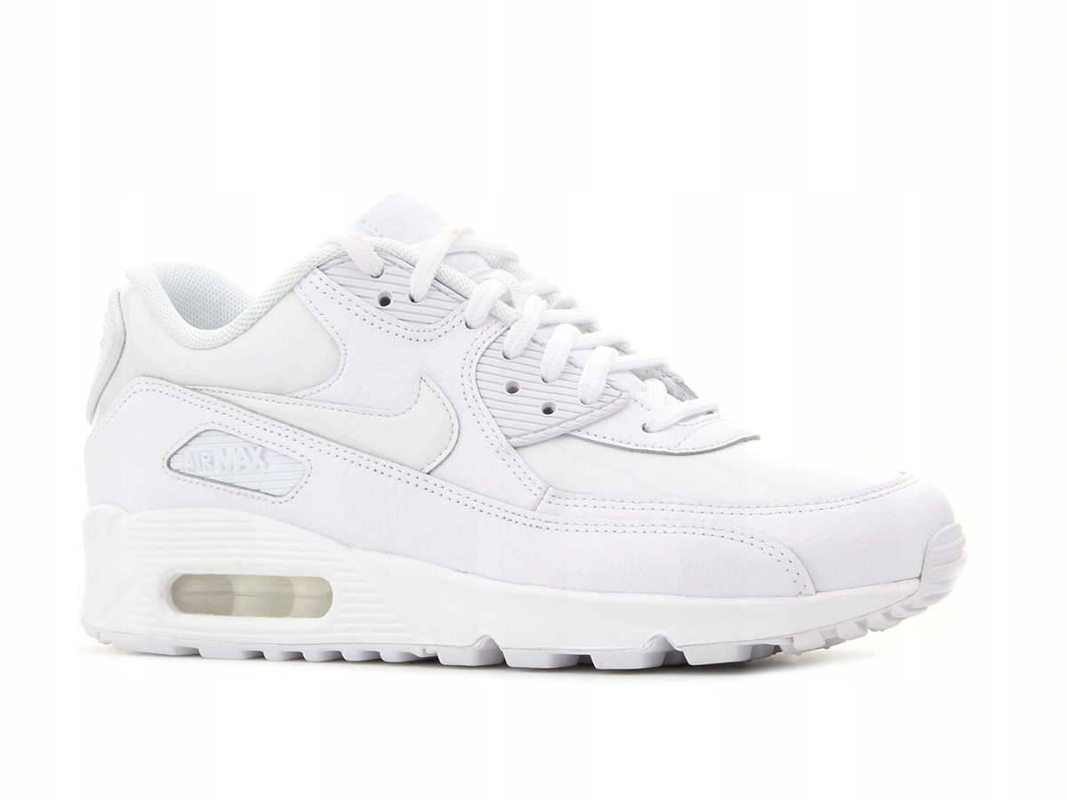 Buty damskie sneakers Nike WMNS Air Max 90 Leather white white white 921304 101