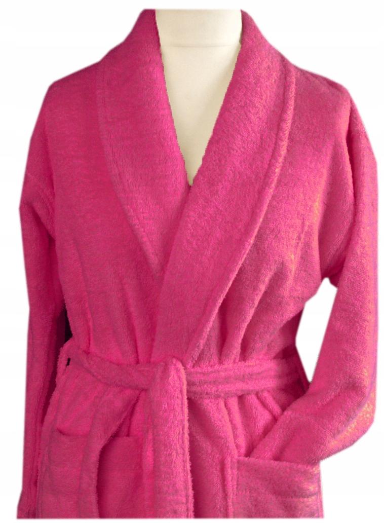 Szlafrok płaszcz kąpielowy Cortina L Greno bordowy
