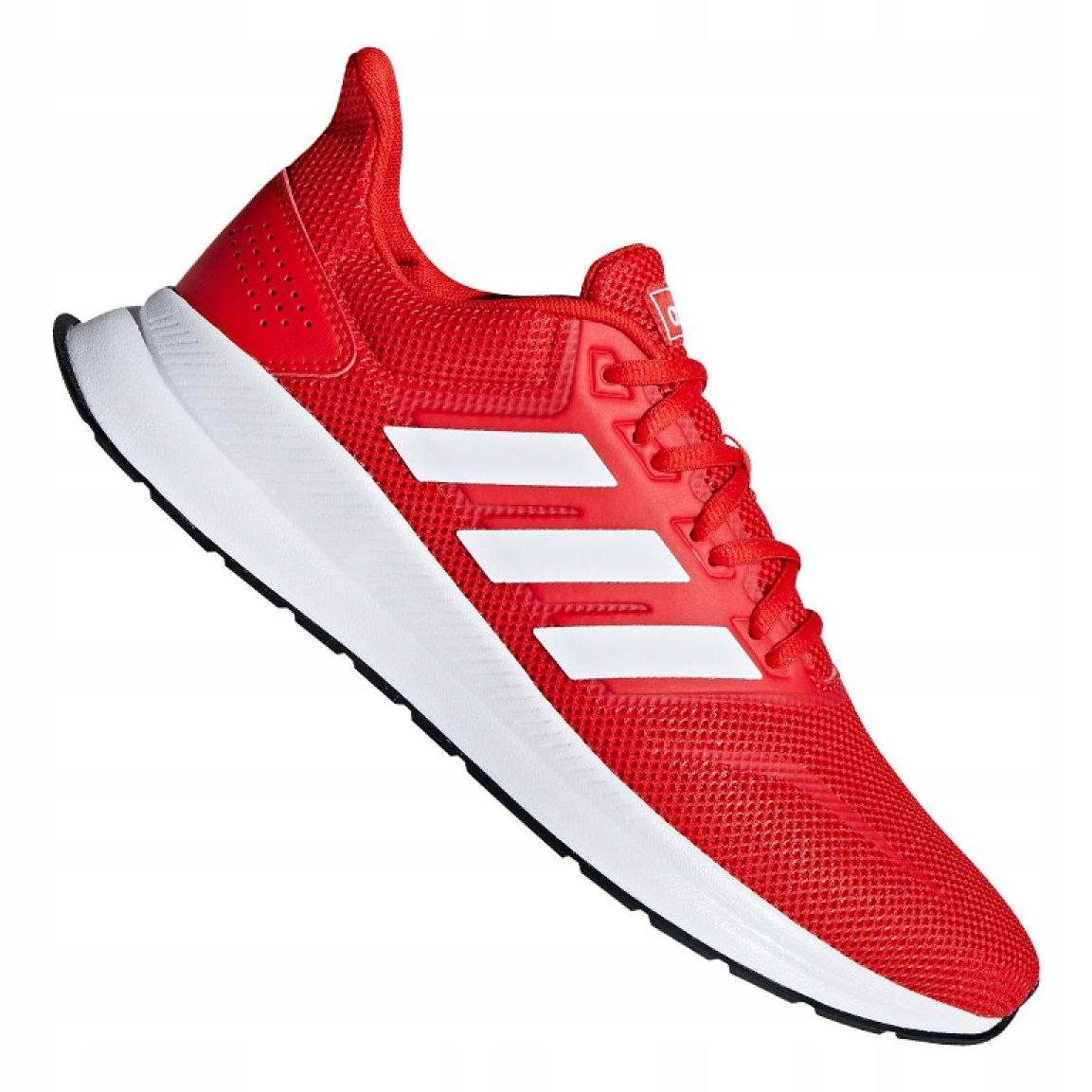 Czerwone Tkanina Buty Treningowe Adidas r.44 2/3