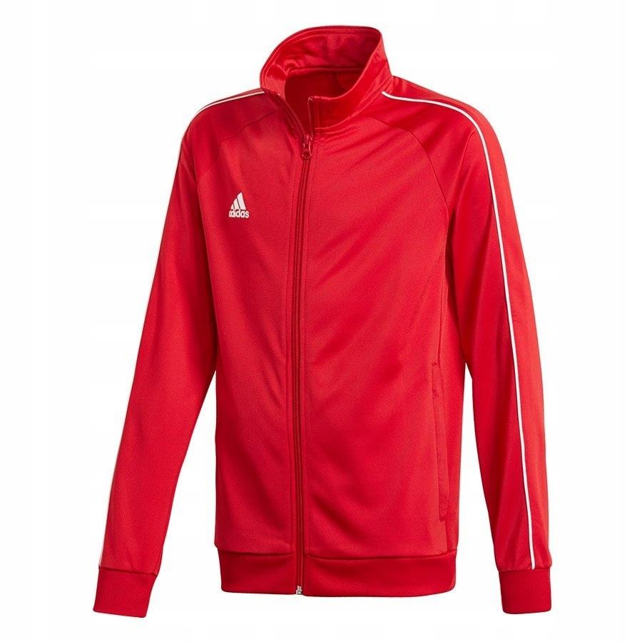 Bluza adidas CORE 18 PES JKTY CV3579 152 cm czerwo