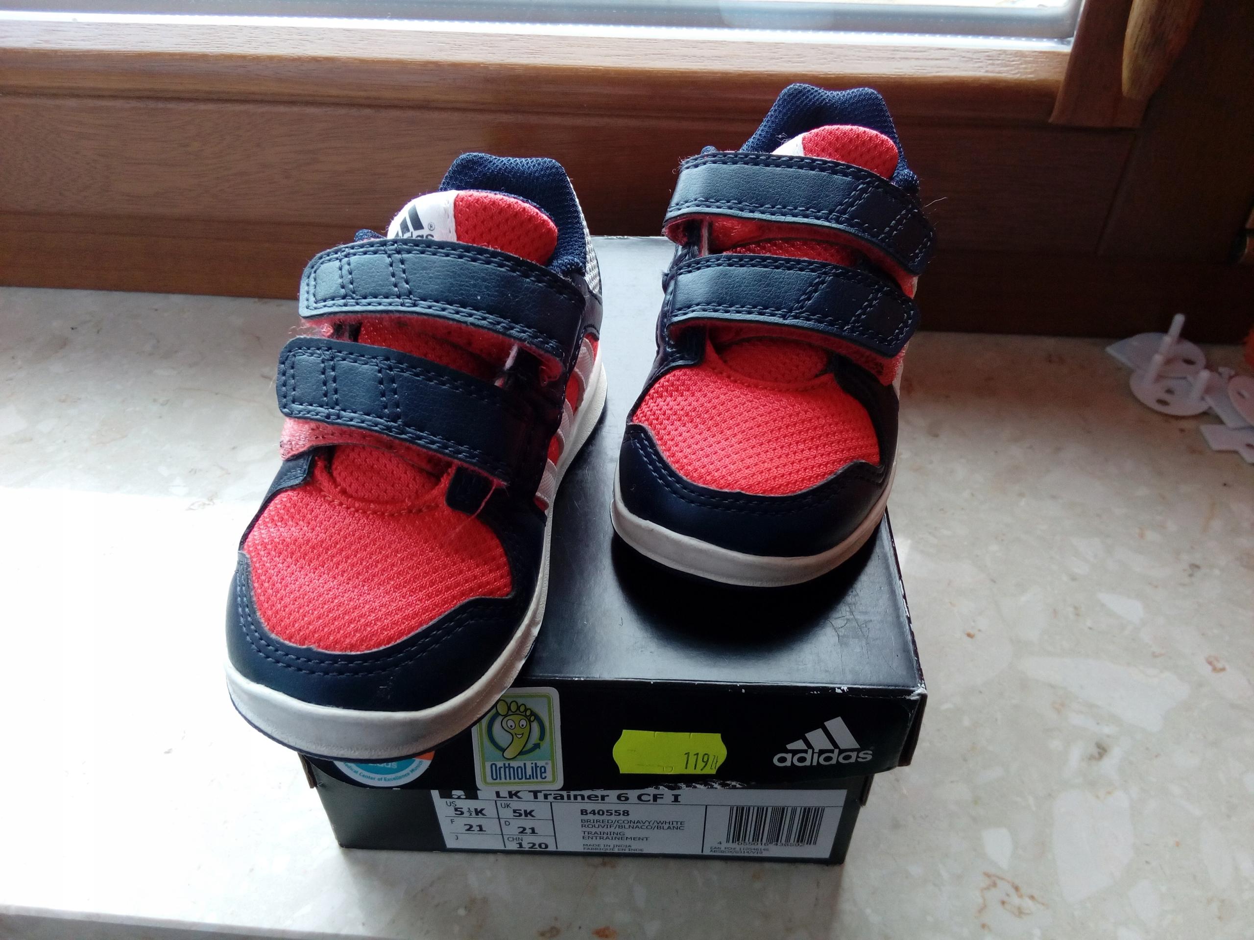 Buty sportowe adidaski ADIDAS r. 21 czerwone 7557961759