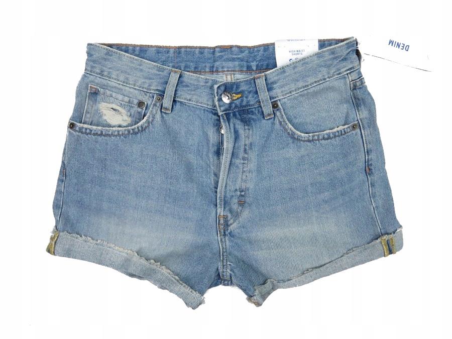 H&M outlet krótkie spodenki damskie dżinsowe S