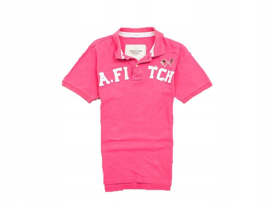 I Abercrombie&Fitch Koszulka Polo Męska Róż M