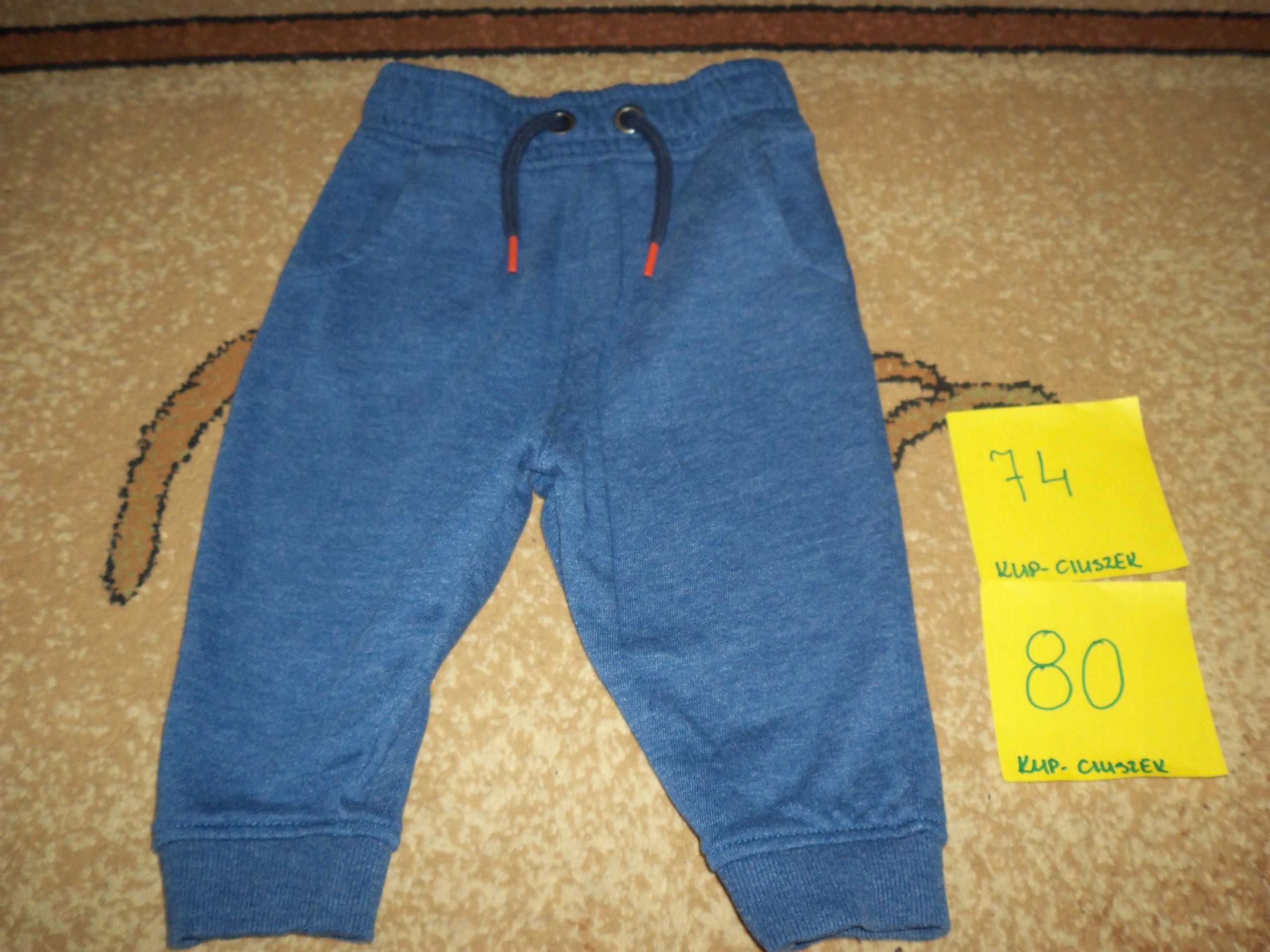 Spodnie chłopięce w rozmiarze 74/80