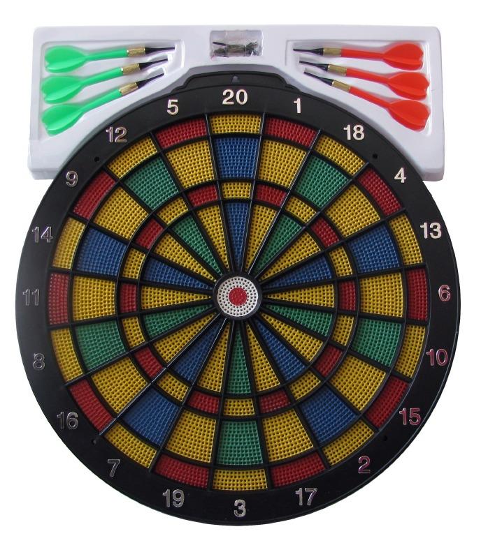 AXER 46cm tarcza do gry w darta tablica + rzutki !