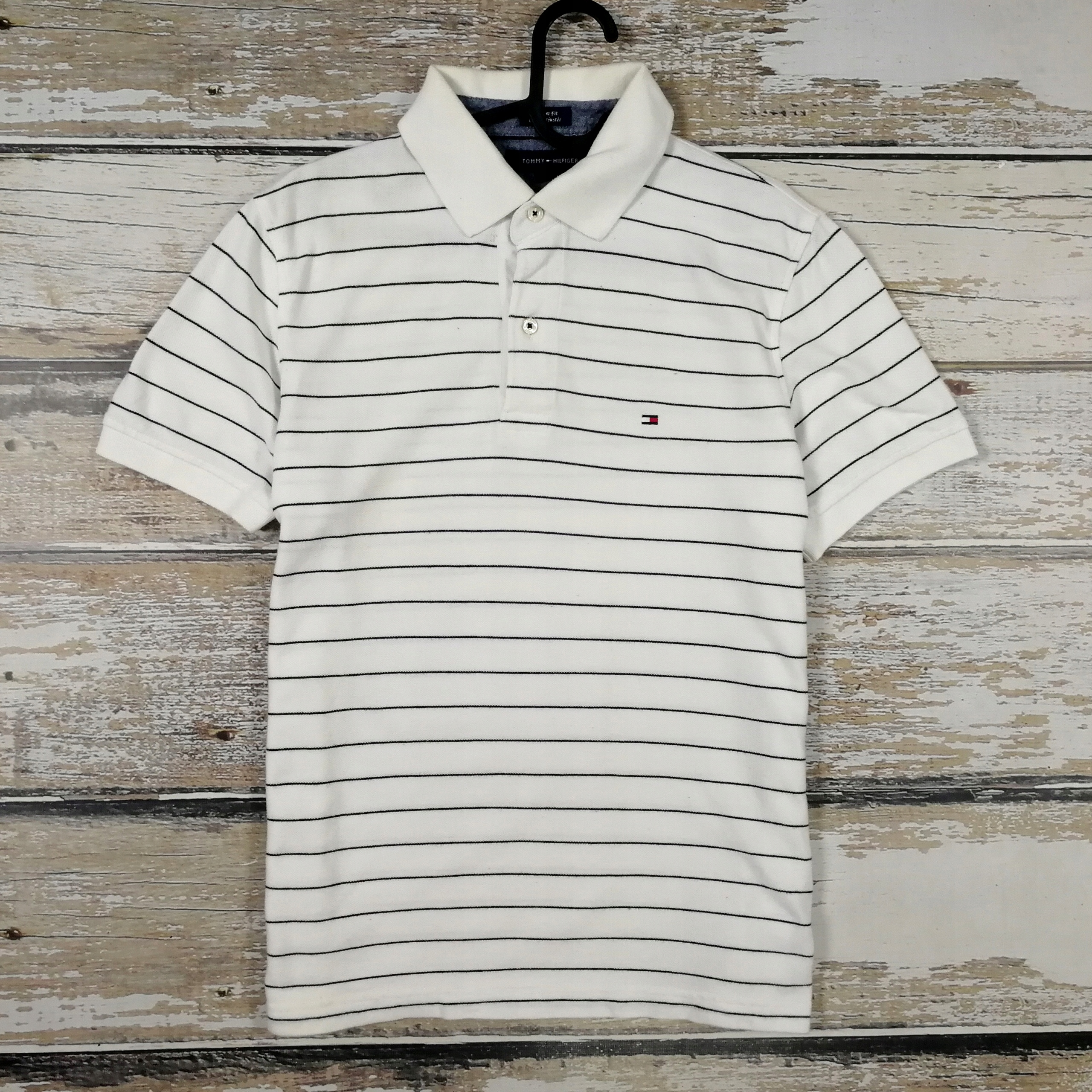 TOMMY HILFIGER Koszulka Polo Paski Stripe Balencia