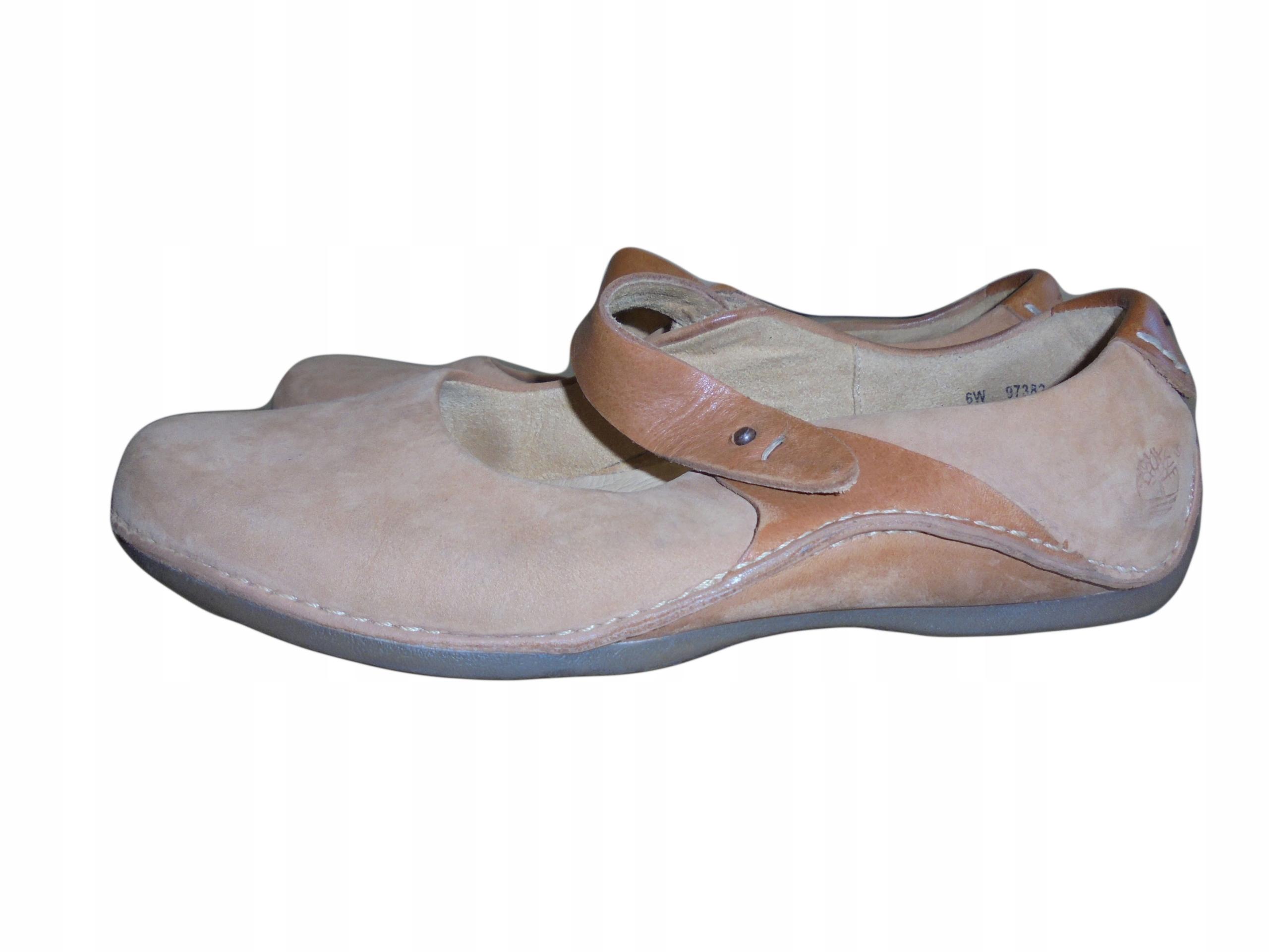Skórzane balerinki Timberland. Stan idealny. 37,5