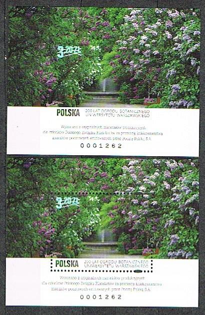 Fi 4803**ND A+B 200 lat Ogrodu Botanicznego