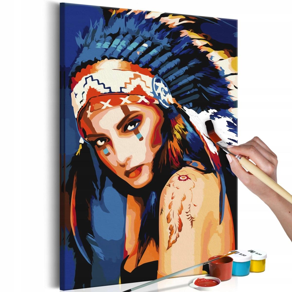 Obraz do samodzielnego malowania - Indianka (Rozmi