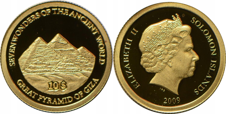 HT15.WYSPY SALOMONA 10 $ 2009 ZŁOTO.999 GCN 17.01