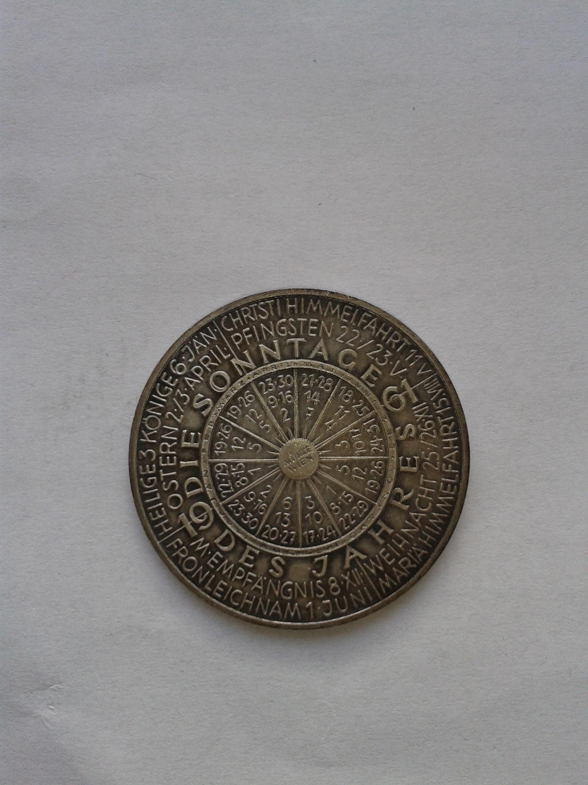 Austria 1961 kalendarz piękna moneta unikat medal