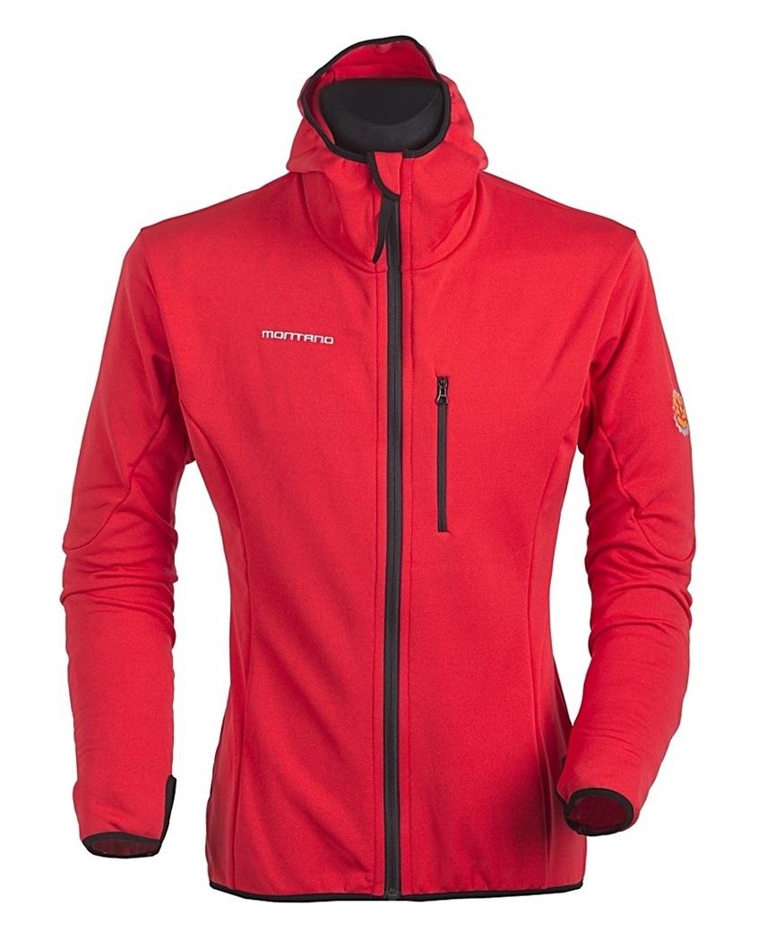 Bluza Cortina stretch kaptur MONTANO czerwona (roz
