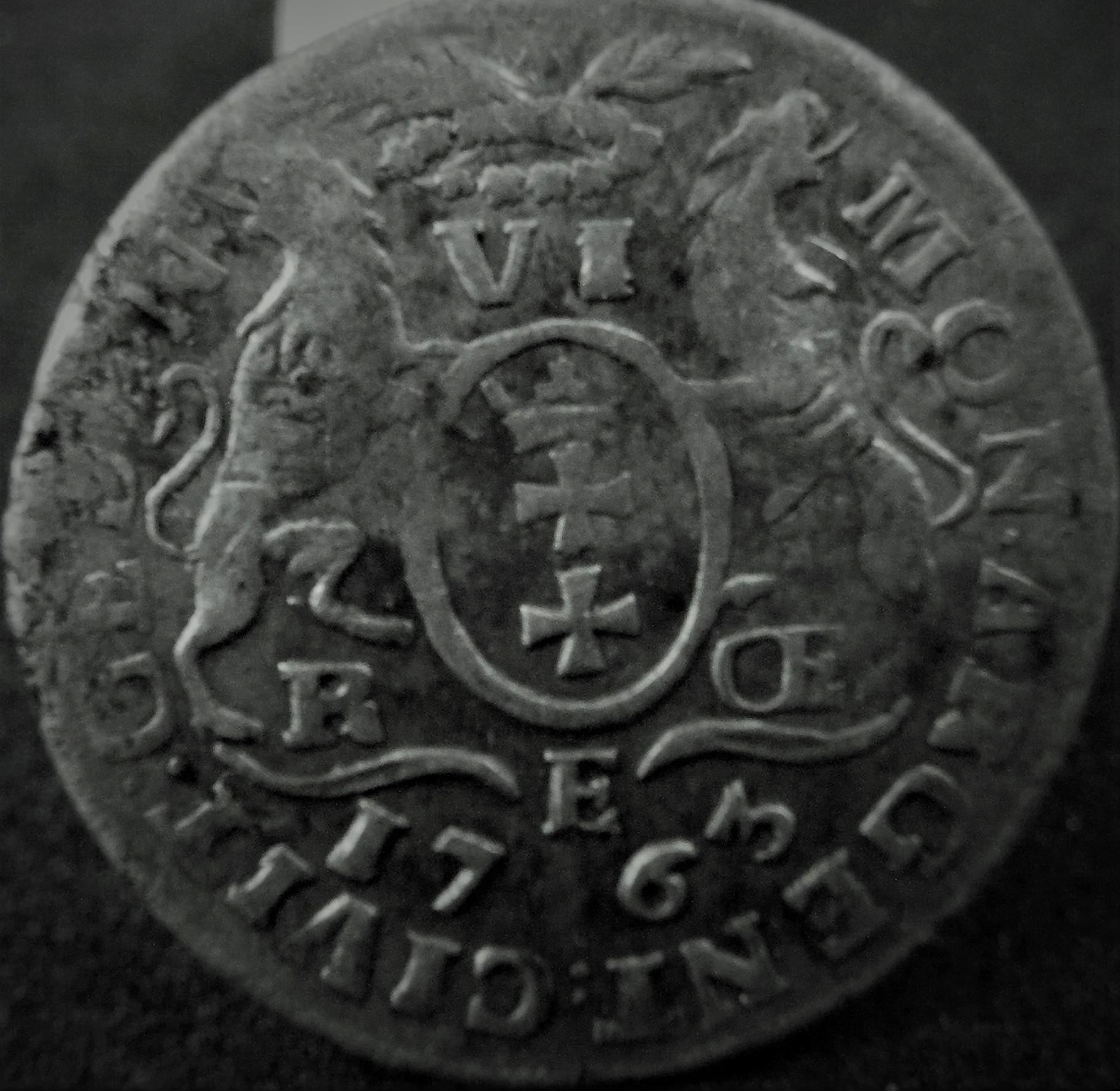 August III 1763 szóstak gdański BCM