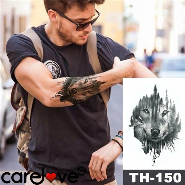 Mocny Tatuaż Tymczasowy Th 150 Wodoodporny Wilk 7970154110
