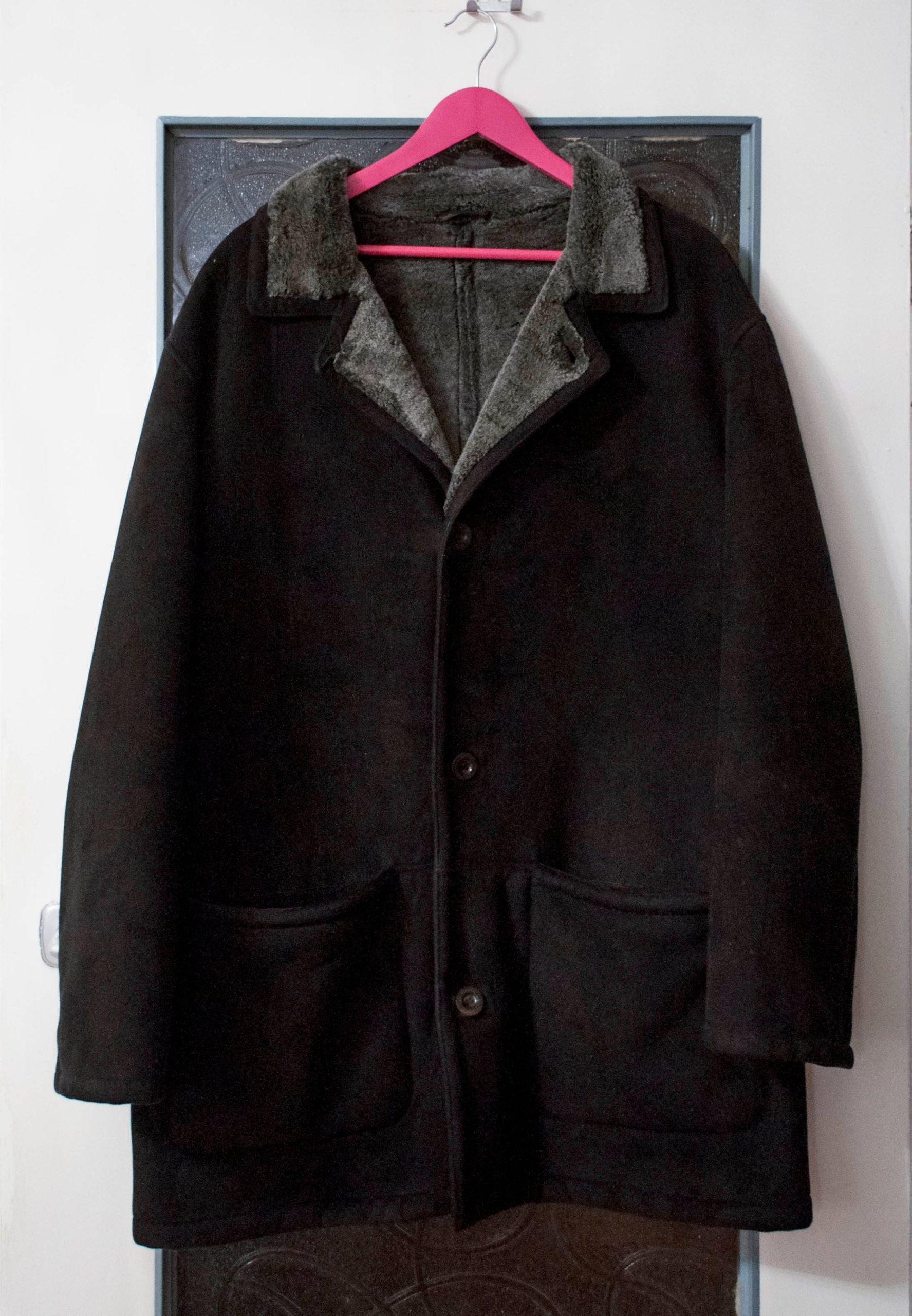 PIERRE CARDIN Płaszcz męski elegancki kożuch 54