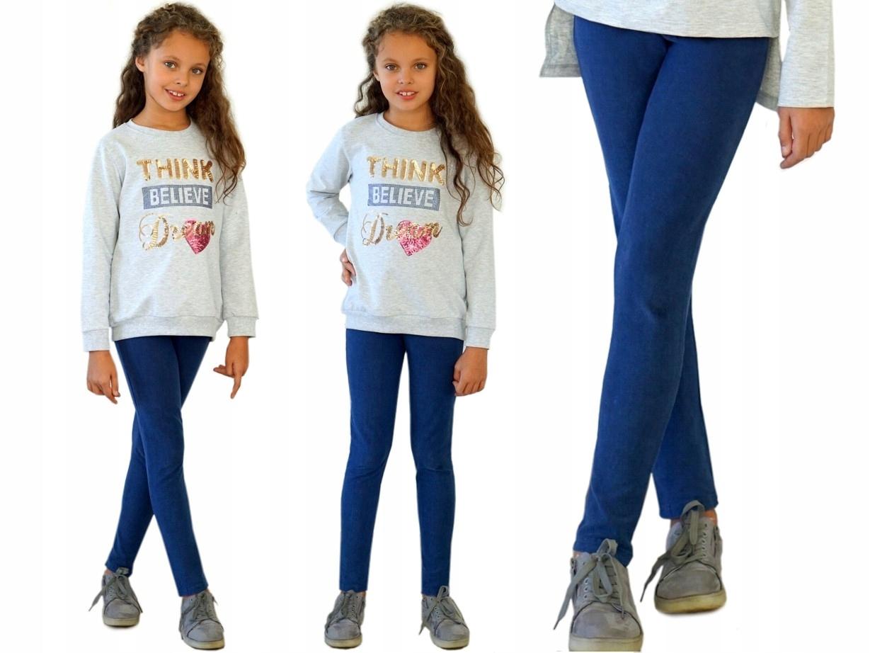 Getry LEGGINSY tregginsy jeans 140 KD495 K