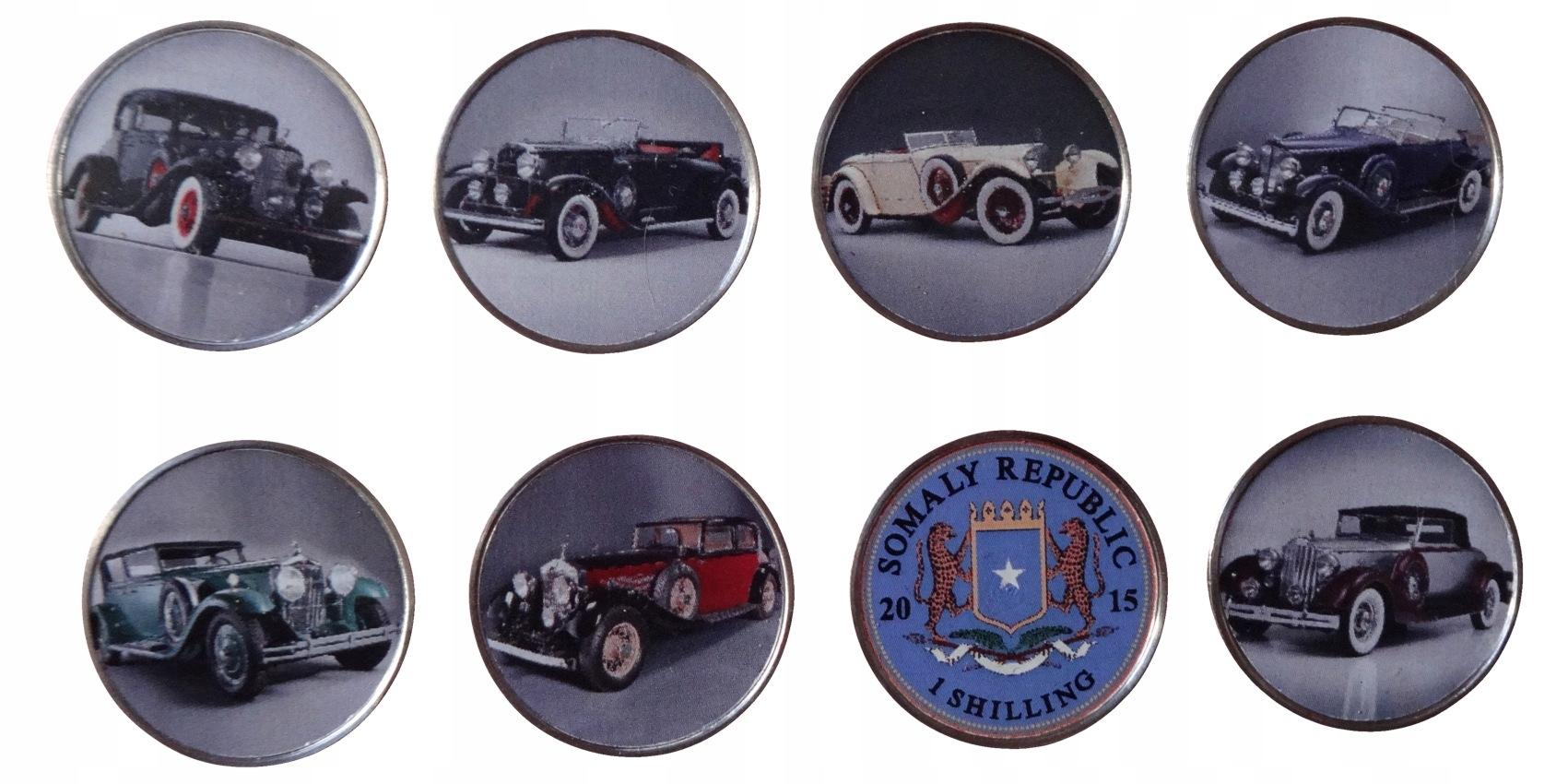 Somalia 1 szyling x 7 Stare samochody 2015